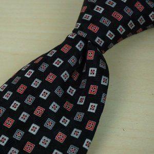 Stefano Ricci Coal Black Cherry Steel Orchid tie